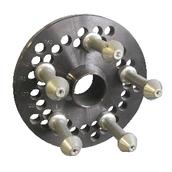 [GAR143]  Ravaglioli (Италия) Адаптер для колёс без центрального отверстия с 5-ю установочными пальцами (110-114,3-118-120-127-140 мм)
