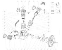 Запчасти для LB 75 компрессорного блока lb-75 remeza ремеза