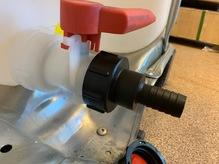 Переходник для еврокуба с 62 мм на шланг 25 мм