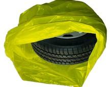 Пакеты для колес 105*105 см 100 шт. желтые